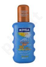 Nivea Sun, Protect & Bronze Sun Spray, Sun kūno losjonas moterims ir vyrams, 200ml