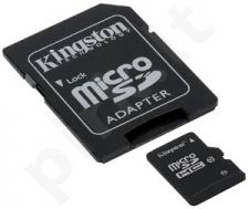 Atminties kortelė Kingston microSDHC 32GB CL10 + Adapteris