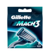 Gillette Mach3, skutimosi peiliukų galvutės vyrams, 8pc