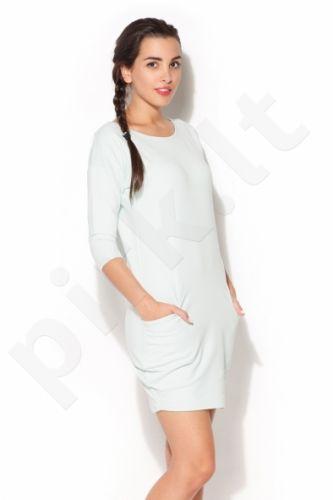Suknelė K181 žalsvo atspalvio