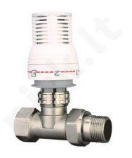 Galva termostatinė su ventiliu tiesi 602