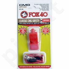 Švilpukas FOX CMG Classic Safety + virvutė 9603-0108 raudonas