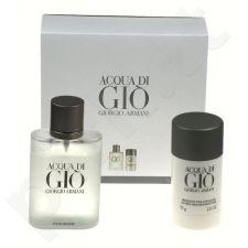 Giorgio Armani Acqua di Gio Pour Homme, rinkinys tualetinis vanduo vyrams, (EDT 100ml + 75ml pieštukinis dezodorantas)