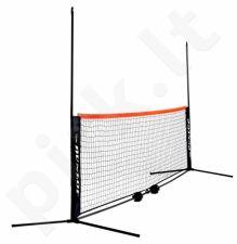 Lauko teniso tinklas mini, 6m, mobilus, su dėklu