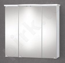 Pakabinama vonios spintelė su veidrodinėmis durimis, apšvietimu ir rozete Riva SV 80-2