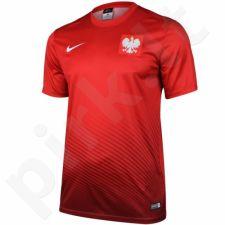 Marškinėliai futbolui Nike Polska Youth Away Supporters Tee Junior 846807-611