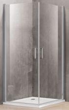 Dušo kabina P1222 80x80 skaidri be pado (tik stiklai)
