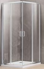 Dušo kabina A1142 80x100 skaidri be pado (tik stiklai)