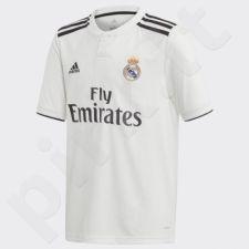 Marškinėliai futbolui Adidas Real Madryt Home Junior CG0554
