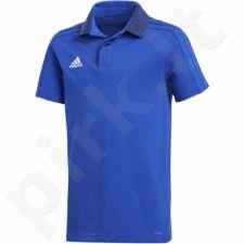 Marškinėliai futbolui Adidas Condivo 18 Cotton Polo Junior CF4372