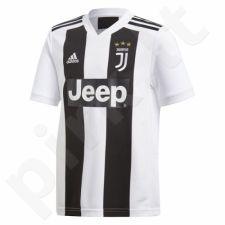 Marškinėliai futbolui Adidas JUVE Home JSY Y Junior CF3496