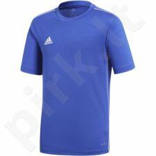 Marškinėliai futbolui Adidas Core 18 JSY Junior CV3495