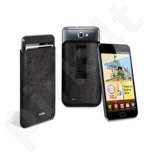 PREKĖ ŽEMIAU SAVIKAINOS! Dėklas Puro Slim Essential Samsung N7000 Galaxy Note Juodos odos