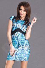 PREKĖ ŽEMIAU SAVIKAINOS! AYANAPA suknelė -  BODYCON STYLE - mėlyno atspalvio 6106-1