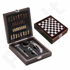 Vyno įrankių rinkinys su šachmatais