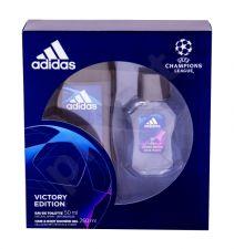 Adidas Victory Edition, UEFA Champions League, rinkinys tualetinis vanduo vyrams, (EDT 50 ml + dušo želė 250 ml)