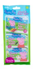 Peppa Pig Peppa, Hand & Face Wipes, drėgnosios servetėlės vaikams, 30pc