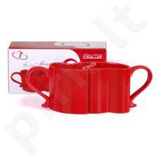 Raudoni meilės puodeliai