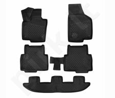Kilimėliai 3D SEAT Alhambra, 2017->, Mk2 (7N) 5pcs black /L55008