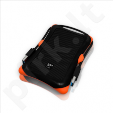 SILICON POWER 1TB, PORTABLE HARD DRIVE ARMOR A30, USB 3.0, BLACK