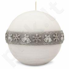 Balta Žvakė Christmas Time Burbulas