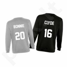 """Džemperių komplektas """"Bonnie & Clyde"""" su pasirinktais skaičiais"""