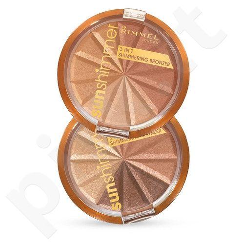 Rimmel London Sun Shimmer, 3in1, bronzantas moterims, 9,9g, (001 Gold Princess)