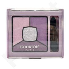 BOURJOIS Paris Smoky Stories, Quad Eyeshadow Palette, akių šešėliai moterims, 3,2g, (12 Sau-Mondaine)