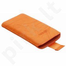 Dėklas Konkis HTC Desire HD odinis Oranžinis