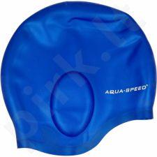 Maudymosi kepuraitė  Aqua-Speed Ear Cap 01 mėlynas
