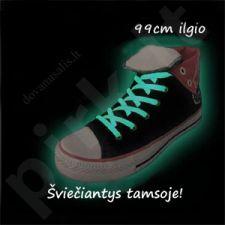 Tamsoje šviečiantys batų raišteliai