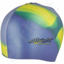 Maudymosi kepuraitė  Allright silikoninė mėlyna geltonas