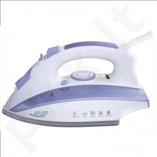 Adler AD 5011 Steam iron, Durable ceramic soleplate, Self-Clean, Anti-Drip, Anti-Calc, Continuous steam, Power 2000W