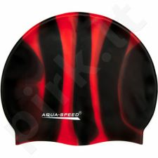 Maudymosi kepuraitė  Aqua-Speed Bunt 38 juoda-raudona