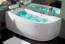 Masažinė vonia B1680 kairinė su hidromasažu 160cm