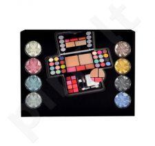 Makeup Trading Diamonds, rinkinys makiažo paletė moterims, (13,44g akių šešėliai + 4,8g skaistalai + 14,4g veido pudra + 3,2g lūpdažis)