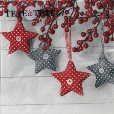 Servetėlės Tat Bn Gray-Red Stars