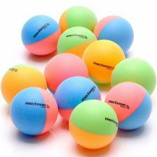 Stalo teniso kamuoliukai 12vnt Meteor Rainbow 15025