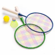 Badmintono rinkinys Meteor Junior 2 raketės+ skrajukė + kamuolys