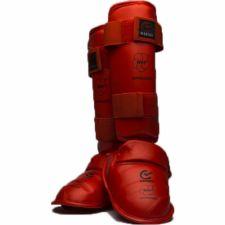 Karate apsaugos blauzdai ir pėdai WKF M red