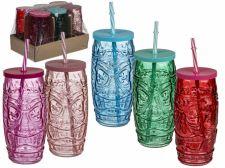Spalvotas gėrimo stiklainis