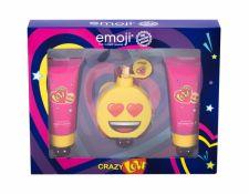 Emoji Crazy Love, rinkinys kvapusis vanduo vaikams, (EDP 50 ml + dušo želė 60 ml + kūno losjonas 60 ml)