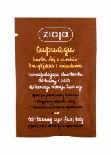 Ziaja Cupuacu, Self-Tanning Wipe, savaiminio įdegio produktas moterims, 1pc