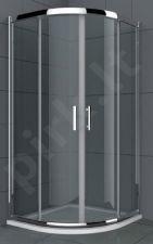 Dušo kabina S90SY grey be pado (tik stiklai)