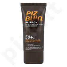 PIZ BUIN Allergy, Sun Sensitive Skin Face Cream, veido apsauga nuo saulės moterims, 50ml