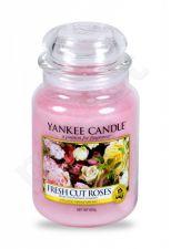 Yankee Candle Fresh Cut Roses, aromatizuota žvakė moterims ir vyrams, 623g