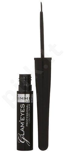 Rimmel London Glam Eyes, akių kontūrui moterims, 3,5ml, (001 Black Glamour)