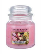 Yankee Candle Fresh Cut Roses, aromatizuota žvakė moterims ir vyrams, 411g