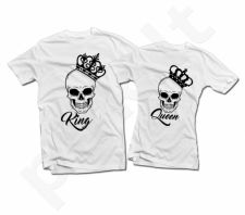 "Marškinėlių komplektas ""King & Queen"" su kaukole"