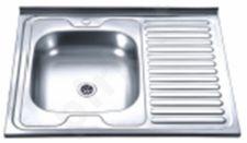 Nerūdijančio plieno plautuvė D8060A dešinė uždedama su sifonu